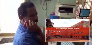 deputy DEO fires on Sri Chaitanya Techno School maintenance