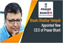 shashi shekhar appointed new CEO of Prasar Bharati