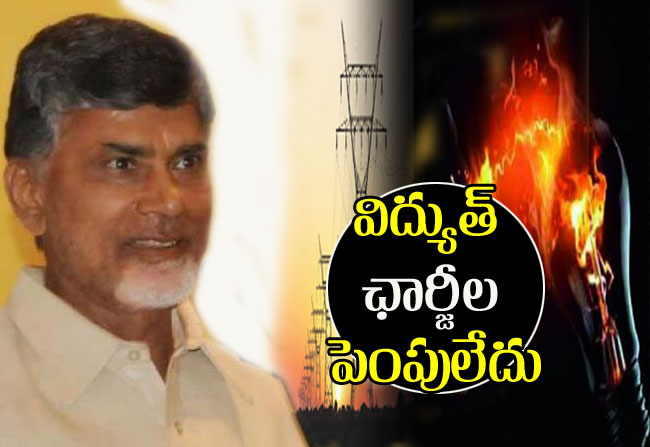 Chandrababu says does not increase electric power charges