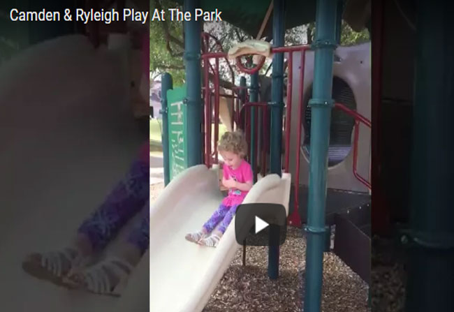 Limb Children's Playing In A Park Video Viral On Social Media.