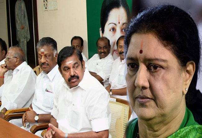 Palaniswamy and o panneerselvam dismissed to sasikala