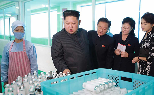kim jong un comments on cosmetic factory