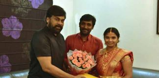 Chiranjeevi Fan Wedding Done infront of Flexi