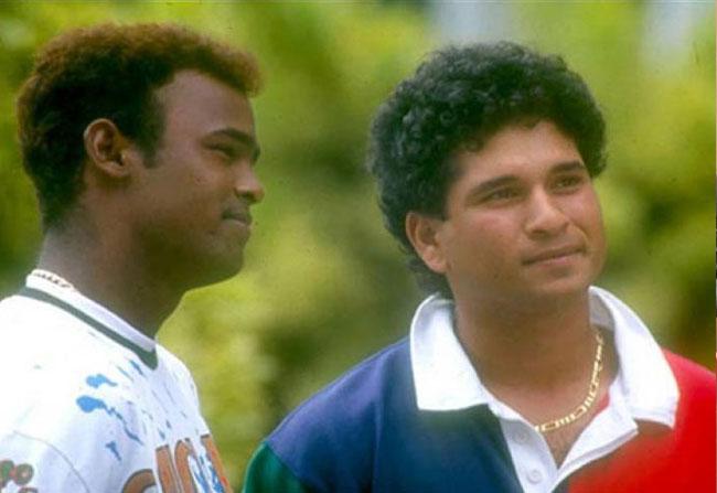 Sachin Tendulkar and Vinod Kambli