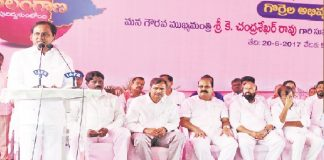 KCR launching the sheep rearing scheme at Kondapaka in Siddipet