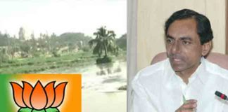 bjp-party-challenge-to-kcr-with-pollutants-in-musi-river