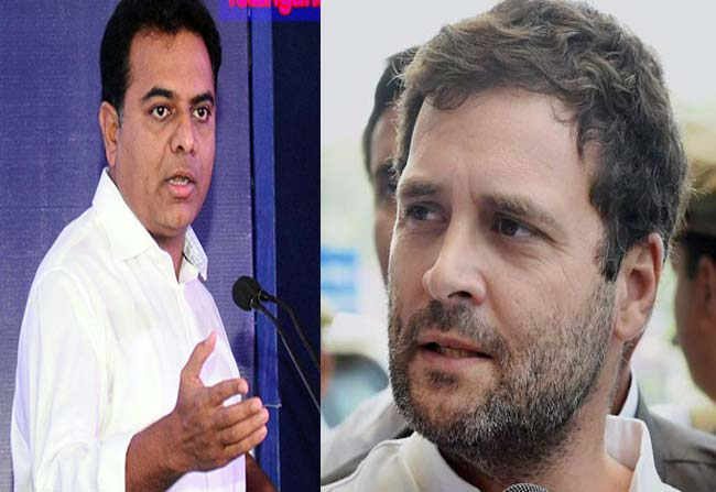 Minister KTR Counter commentas on Rahul Gandhi