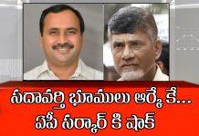 sadavarti lands belongs to Alla Ramakrishna Chandrababu shocked