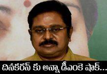 AIADMK party shocked to Dinakaran