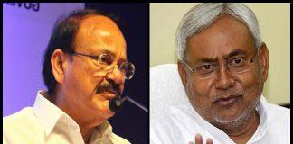 Nitish kumar Replaces Venkaiah Naidu To Praise Modi