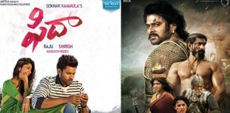 Fidaa movie competing with Baahubali movie collections
