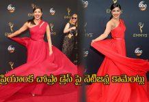 Comments On Priyanka Chopra Dress Up In Emmy Awards Ceremony