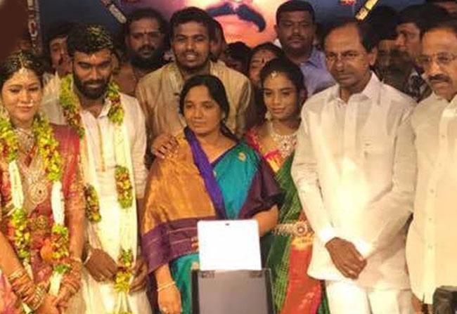 KCR in Paritala Sriram marriage