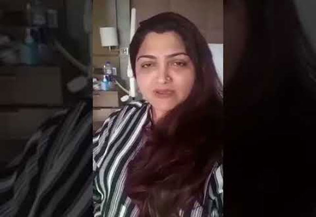 Kushboo to be hospitalised for surgery