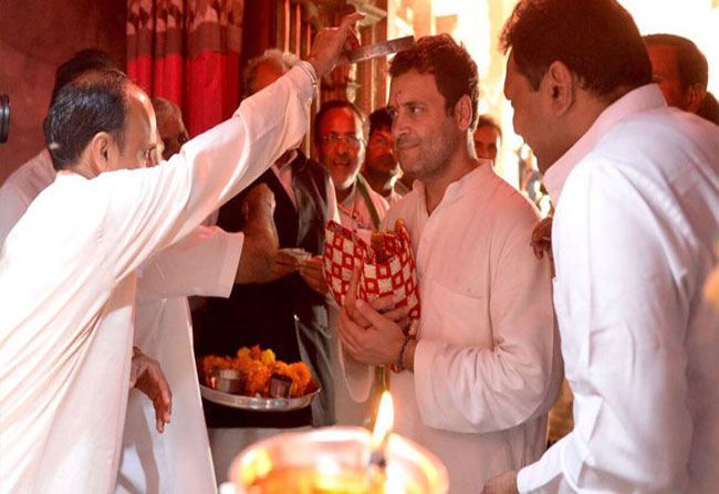 rahul gandhi says i am lord shiva devotee