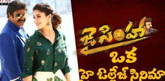 Jai Simha' is a high voltage movie