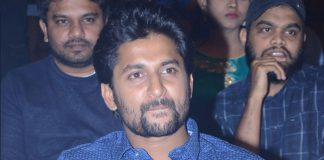 megha fans and nandamuri fans series on nani at bhagmati movie pre release event