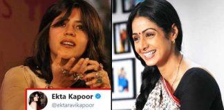 Ekta Kapoor Comments On Sridevi Dead