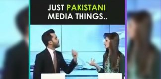 Pakistan News Readers Funny Fight On TV News Channel Live