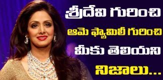 Sridevi Family Background details