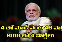 four parties coming along with Modi for 2019 elections