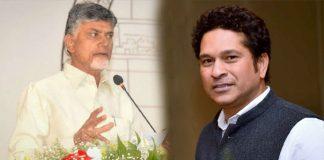 Sachin Tendulkar Meets AP CM Chandrababu In Singapore