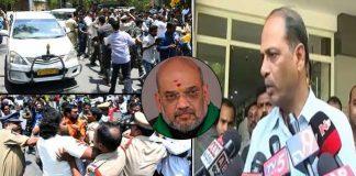 AP DGP Malakondaiah comments on Amit Shah convoy Stone pelting