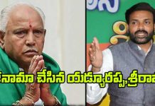 BS Yeddyurappa And B Sriramulu resigned from Lok Sabha