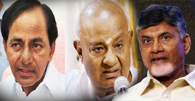 Devegowda says KCR and Chandrababu supports to JD S Party