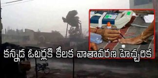 Heavy rainfall and Thunderstorm in Karnataka