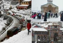 Kedarnath yatra break due to Heavy snow halts