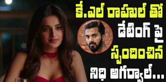 Nidhi Agarwal responds on a Love affair with KL Rahul