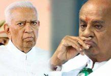 Vajubhai vala takes personal Glitz on Dewagowd in Karnataka politics