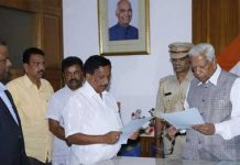governor shocks congress by appointing bjp mla as pro tem speaker