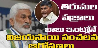 vijaya sai reddy comments on chandrababu naidu About TTD Assets