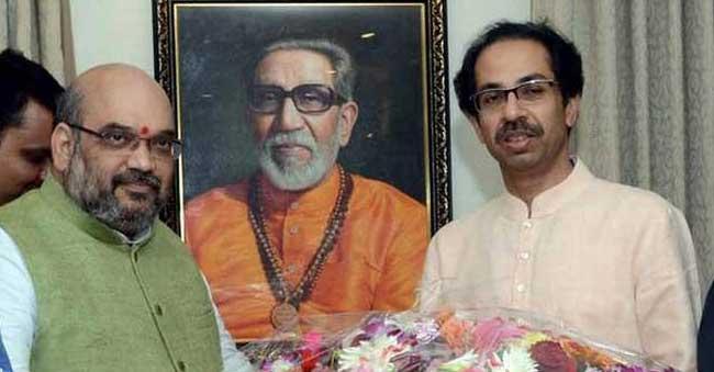 Amit Shah meets Shiv Sena Uddhav Thackeray