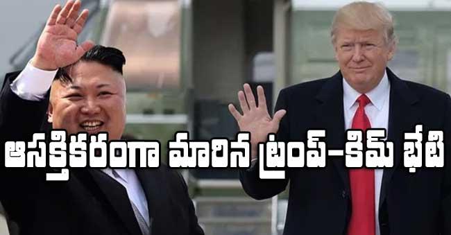 Trump meets Kim-Jong un Singapore