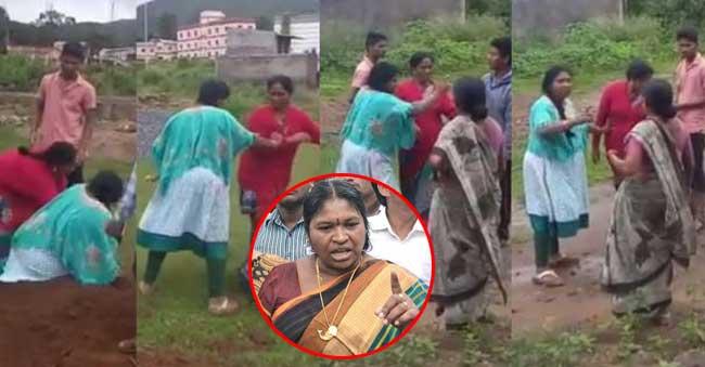 giddi eswari fighting with women over Land dispute