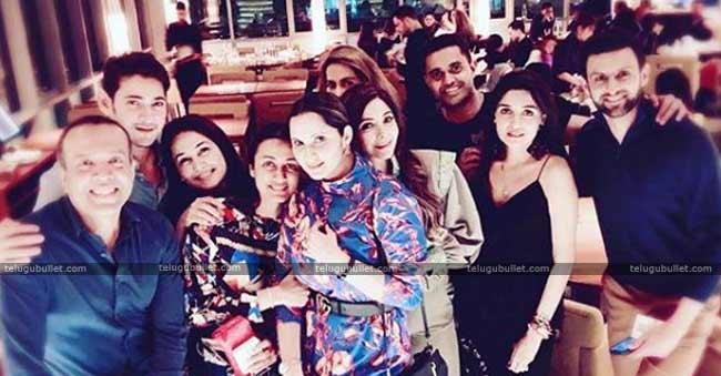 Mahesh Babu Family Meet Sania Mirza Family
