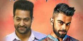 kohli and ntr on one stage