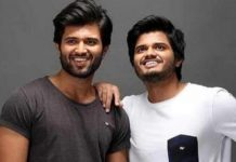 devarakonda giving hand to brother