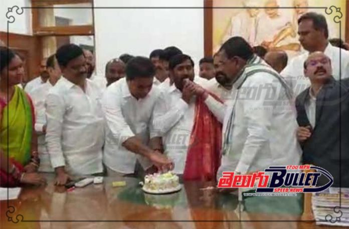 cm kcr birthday wishes to minister jagadeesh reddy