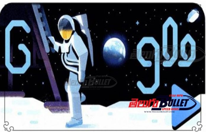 google doodle celebrates 50th anniversary of first moon landing