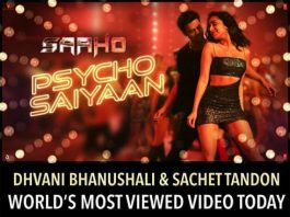 saaho song as the most viewed video