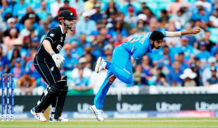 today afternoon india newzeland semis match