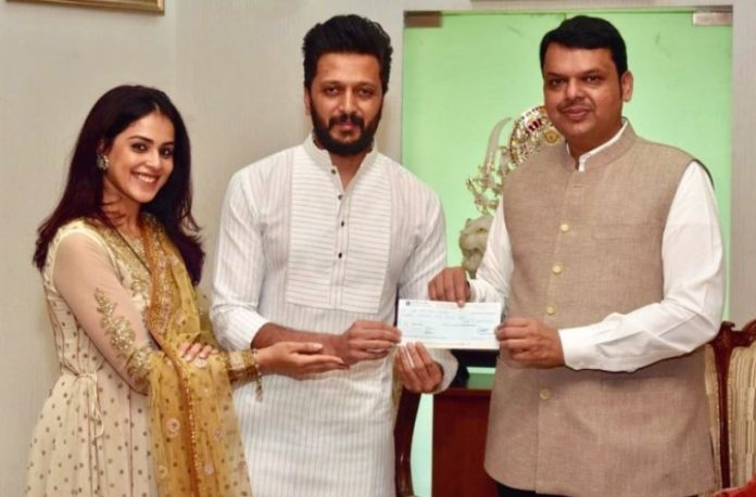 Maharashtra floods ... Genelia is generous!