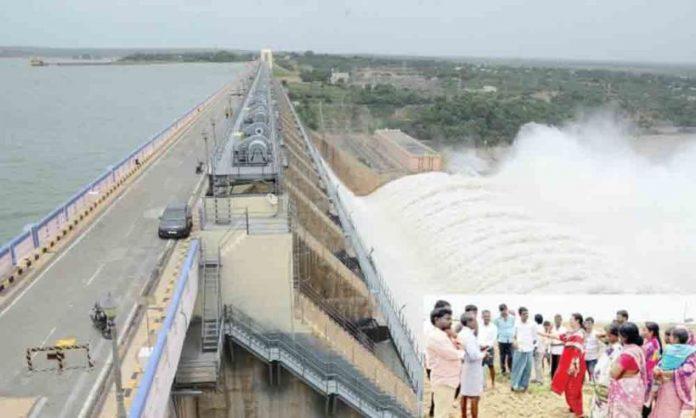 Krishna river mahograpam ... trembling Vijayawada!