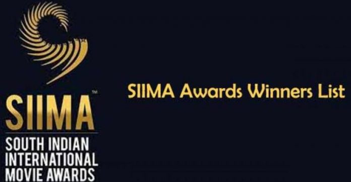 SIIMA awards 2019 award winners